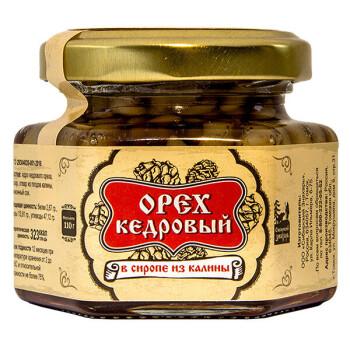 КЕДРОВЫЙ ОРЕХ В СИРОПЕ ИЗ КАЛИНЫ, 110 г