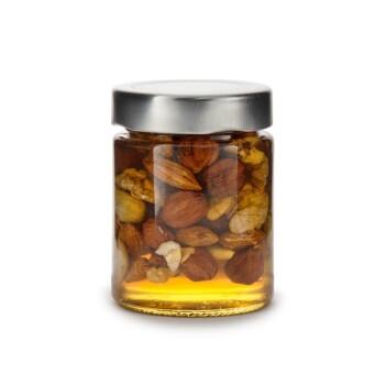 Горный мед с орехами (ассорти), 140 мл