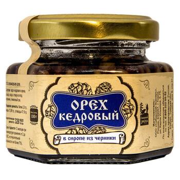 КЕДРОВЫЙ ОРЕХ В СИРОПЕ ИЗ ЧЕРНИКИ, 110 г